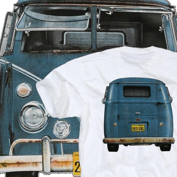 vw bus t shirt t1 volkswagen bully samba wei gr m ebay. Black Bedroom Furniture Sets. Home Design Ideas